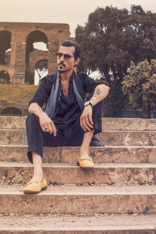 Categories: Fashion Portrait; Model: GUGLIELMO GIOVANNONI; Location: Roma
