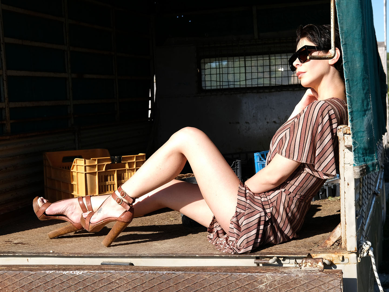 Categories: Fashion Glamour Portrait; Model: NAUSICA CARDONE; Ph. STEFANO MANCINELLI; MUA: JONATHAN TABACCHIERA; Location: Aci Castello (CT)